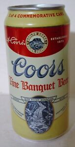 2016 12 oz . COORS COMMEMORATIVE BEER CAN, ( 3 OF 4 )  BOTTOM OPENED!