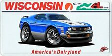 1971 Ford Mustang Boss 351 Muscle Car License Plate NEW