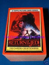 TOPPS STAR WARS  ROTJ TRADING CARDS 1-132 & STICKER SET 1-33