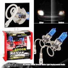 1-PAIR Xenon H3 White 5000k 55w 12v Halogen Fog Driving Headlights Lamps Bulbs