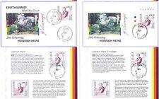 BRD 1997: Heinrich Heine Nr 1962 I.+II. Auflage! Postfrisch+gestempelt+FDC 20-06