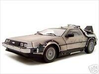 "DELOREAN ""BACK TO THE FUTURE I"" MOVIE 1/18 DIECAST MODEL CAR BY SUNSTAR 2711"