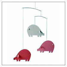 Piggy Mobile - pink and light blue - by Ole Flensted for Flensted Mobiles