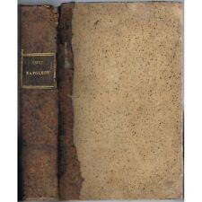 CODE NAPOLÉON Loi 3 Sept 1807 N°154bis avec Code NAPOLÉON Rondonneau An XII 1804