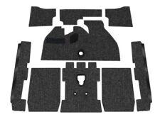 Premium VW Front Carpet Kit, Black Loop, w/ Footrest, Beetle/Super 1973-1976