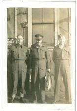 Canadian Officer and soldiers, WW2,  Original Photo