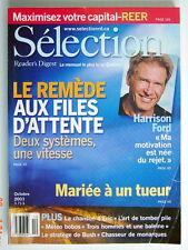 SÉLECTION DU READER'S DIGEST DE OCTOBRE 2003, EN COUVERTURE HARRISON FORD