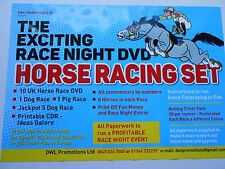 THE EXCITING RACE NIGHT DVD HORSE RACING SET/RAISE FUNDS+1,440 TICKET PACK
