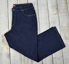 Woman Within Plus Boot Jeans Bootcut Pants Mid Rise Dark Wash Blue 16W Petite
