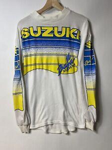 Vintage 80s Suzuki Baja Racing Jersey Size Medium