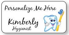 Dentist Office Name Badge Personalized Custom For Kids Magnet Fastener