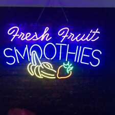 "New Fresh Fruit Smoothies Shop Open Beer Bar Neon Light Sign 24""x20"""