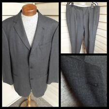 043e250a6 HUGO BOSS Einstein Sigma Gray Fit 3-Btn Wool Nylon Suit 42 44 Flannel