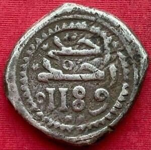MOROCCO , MUHAMMED III SILVER 10 DIRHAMS MITQAL 1189 AH ( MS-14 ) RABAT , XRARE