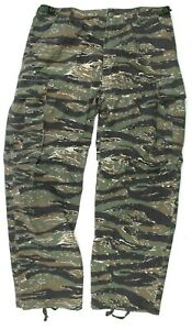 US ARMY STYLE COMBAT RIPSTOP TROUSERS US TIGER STRIPE VIETNAM WAR