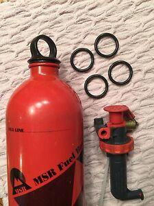 4  for $4 MSR Fuel Bottle O-Rings/seal gasket -- fits Stove Pump & Sigg types