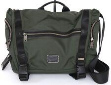 TUMI Bag Briefcase Laptop ALPHA BRAVO PINCKNEY Flap Green Nylon Leather