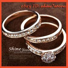 18k Rose Gold Engagement & Wedding Ring Sets
