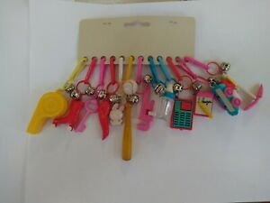 12 VINTAGE RARE 1980s BELL CLIP PLASTIC CHARMS