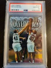 TIM DUNCAN 1997 FINEST SILVER #306 RC ROOKIE PSA 10