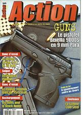 ACTION  GUNS N°243 BERETTA 9000S 9mm PARA / COLD STEEL / JERICHO 941F EN 40 S&W