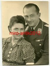 Foto, Portrait, Oberst der Luftwaffe, Flakkampfabzeichen, EKI, Bandspange (W26)