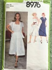 """Simplicity 8976 70s Vintage Sewing Pattern Misses' Shirt Camisole & Skirt 14 36"""""""