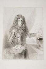 Portrait-LOUIS III DUC DE BOURBON CONDE-GRAVURE ACIER-VERSAILLES
