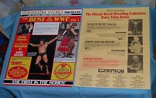 original COLISEUM VIDEO THE BEST OF THE WWF advertising flyer & COMMTRON flyer