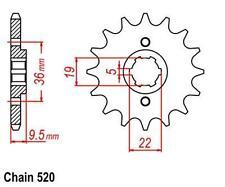 KR Ritzel 14Z Teilung 520 Front sprocket HONDA CR 480 R PE020 1982-1983