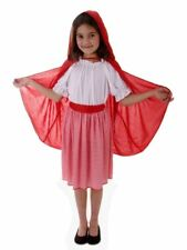 Red Riding Hood Girls Fancy Dress Costume Size Large Age 10-12 Years