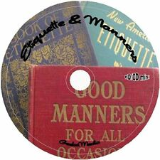 Etiquette & Manners 18 Books on CD basic formal business text cell wedding email