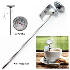 Bimetal Instant Reading Water Milk Clip Meat Food Coffee Long Probe Thermometer