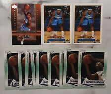 (12) 2003-04 Carmelo Anthony Rookie Lot Topps #223 Upper Deck Review Nuggets