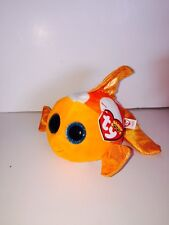 """TY SAMI ORANGE FISH 6"""" WIDE BEANIE BOOS-NEW,MINT TAG-IN HAND & SHIPS NOW-PLAYFUL"""