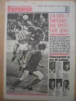 FUWO 38- 16.9. 1980 ** Dresden-HFC 3:2 Zwickau-Jena 0:3 Aue-Hansa Rostock 1:0