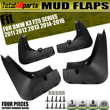 4pcs Splash Guards Mud Flaps Mudflap Fit for BMW X3 F25 Front and Rear 2011-2016