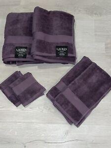 Ralph Lauren Wescott Noble Purple 6PC Towel Set ! New