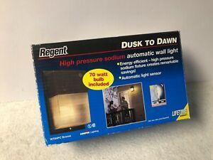 Cooper Lighting Regent High Pressure Sodium Automatic Wall Light W70HPC Bronze