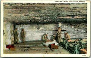 1939 Hutchinson, Kansas MINING Postcard CAREY SALT MINE Underground Cave Scene