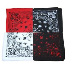 Skull Head Scarf Neck Scarf Skull Design Square Scarf.~