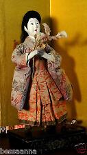 Lg. Antique Meiji Gofun Asian Japanese Fugi Musume or Geisha Doll DA4161412oo