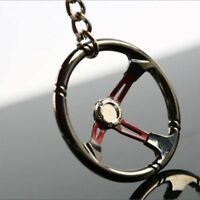 Creative Metal Car Steering Wheel Shape Keychain Keyring Car Styling Accessories