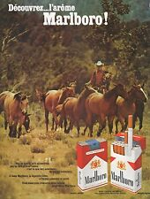 Publicité MARLBORO Cigarettes Cow-boy Tobacco  photo vintage ad  1970 -3j