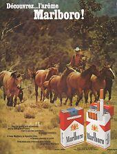 Publicité MARLBORO Cigarettes Cow-boy Tobacco  photo vintage ad  1970 -3j