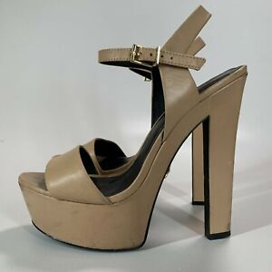 KG by Kurt Geiger Ladies Leather Ankle Strap High Heel Shoes UK 5 - EU 38 used