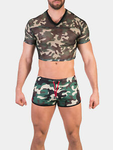 Barcode Berlin Shirt EAN , Camouflage,Size XL, 91487/960, Gay, Sexy
