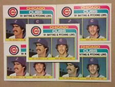 1982 TOPPS CHICAGO CUBS LEADERS BILL BUCKNER RANDY MARTZ 5 CARD LOT NM/MT 00217