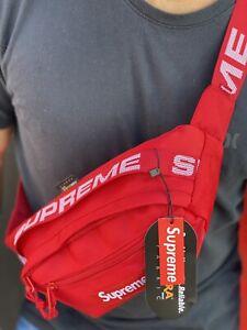 Red Supreme Waist Bag SS18 Fanny Pack Crossbody Messenger Shoulder Bag