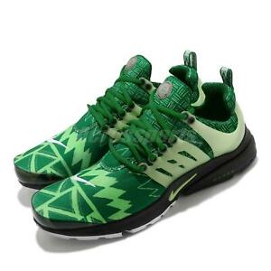 T-SHIRT SIZES Nike Air Presto Naija Pine Green Strike Black Men Shoes CJ1229-300